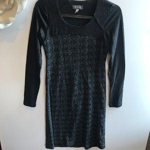 Ibex gray print merino wool dress Size XS for sale